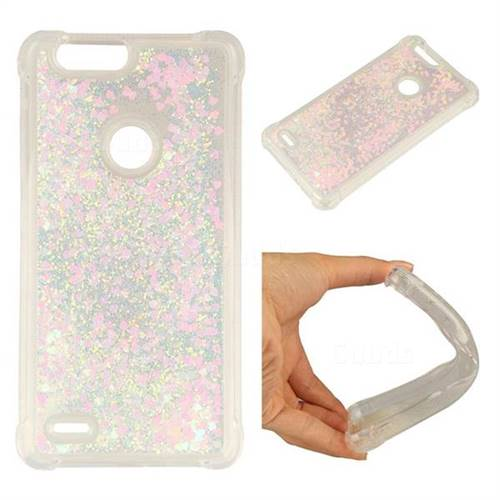 Dynamic Liquid Glitter Sand Quicksand Star TPU Case for ZTE Blade Z Max Z982 - Pink
