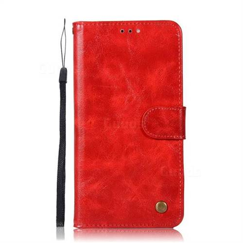 finest selection 057ae 595f1 Luxury Retro Leather Wallet Case for ZTE Blade Z Max Z982 - Red