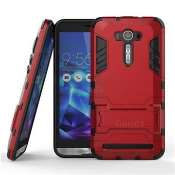 online retailer aea4f eb732 Armor Premium Tactical Grip Kickstand Shockproof Dual Layer Rugged Hard  Cover for Asus ZenFone Live (L1) ZA550KL - Wine Red