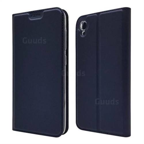Ultra Slim Card Magnetic Automatic Suction Leather Wallet Case for Asus ZenFone Live (L1) ZA550KL - Royal Blue