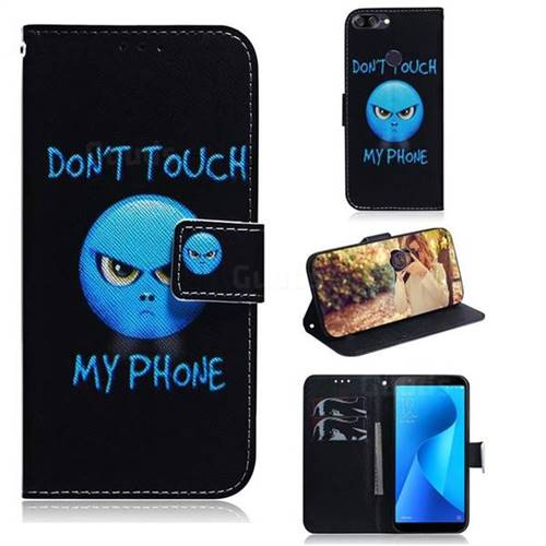 Not Touch My Phone PU Leather Wallet Case for Asus Zenfone Max Plus (M1) ZB570TL