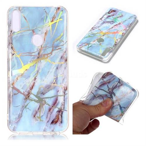Light Blue Marble Pattern Bright Color Laser Soft TPU Case for Asus Zenfone Max Pro (M1) ZB601KL
