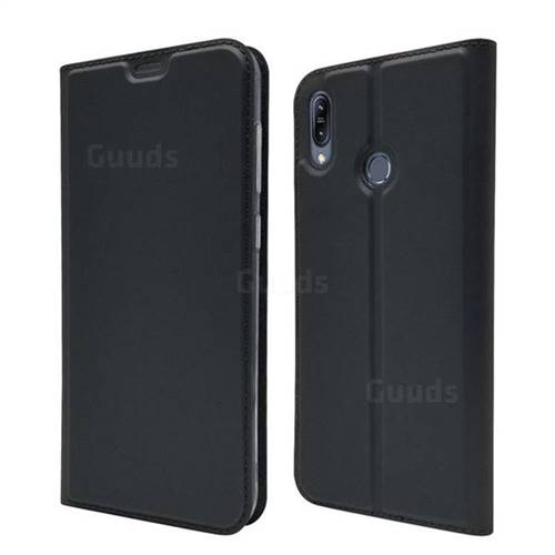 Ultra Slim Card Magnetic Automatic Suction Leather Wallet Case for Asus Zenfone Max (M2) ZB633KL - Star Grey