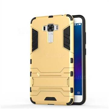 cheap for discount f4d9b 4166c Armor Premium Tactical Grip Kickstand Shockproof Dual Layer Rugged Hard  Cover for Asus Zenfone 3 Laser ZC551KL - Golden