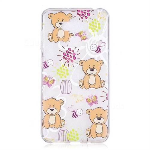 promo code c6e6d 9648e Butterfly Bear Super Clear Soft TPU Back Cover for Asus Zenfone 3 Max  ZC553KL