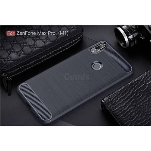 ca67eab8d Luxury Carbon Fiber Brushed Wire Drawing Silicone TPU Back Cover for Asus  Zenfone 4 Max ZC554KL Pro Plus - Navy - TPU Case - Guuds