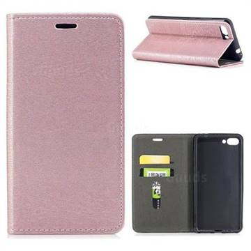 Tree Bark Pattern Automatic suction Leather Wallet Case for Asus Zenfone 4 Max ZC554KL Pro Plus - Rose Gold