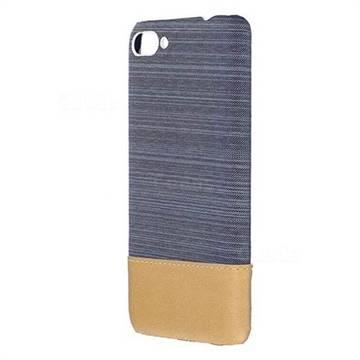 Canvas Cloth Coated Plastic Back Cover for Asus Zenfone 4 Max ZC554KL Pro Plus - Light Blue