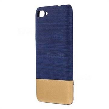 Canvas Cloth Coated Plastic Back Cover for Asus Zenfone 4 Max ZC554KL Pro Plus - Dark Blue