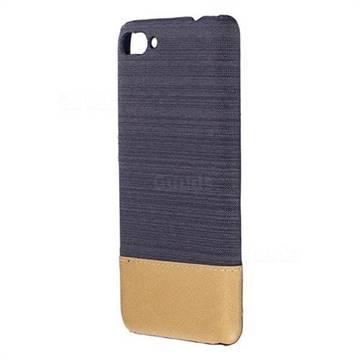 Canvas Cloth Coated Plastic Back Cover for Asus Zenfone 4 Max ZC554KL Pro Plus - Black