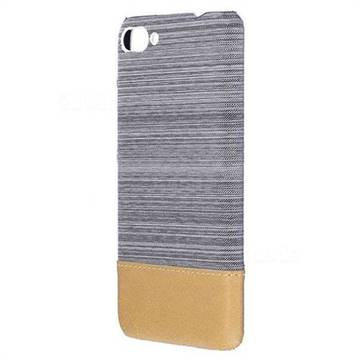 Canvas Cloth Coated Plastic Back Cover for Asus Zenfone 4 Max ZC554KL Pro Plus - Light Grey