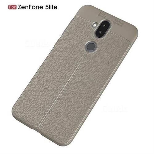 sale retailer eee4d 7c0c3 Luxury Auto Focus Litchi Texture Silicone TPU Back Cover for Asus Zenfone 5  Lite ZC600KL - Gray