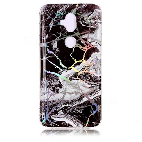White Black Marble Pattern Bright Color Laser Soft TPU Case for Asus  Zenfone 5 Lite ZC600KL