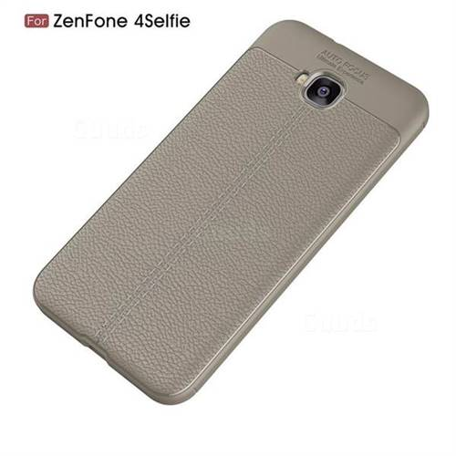 timeless design 5d817 85f1e Luxury Auto Focus Litchi Texture Silicone TPU Back Cover for Asus Zenfone 4  Selfie ZD553KL - Gray