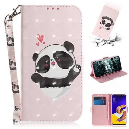 Heart Cat 3D Painted Leather Wallet Phone Case for Asus Zenfone 5Z ZS620KL