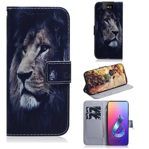 Lion Face PU Leather Wallet Case for Asus ZenFone 6 (ZS630KL)