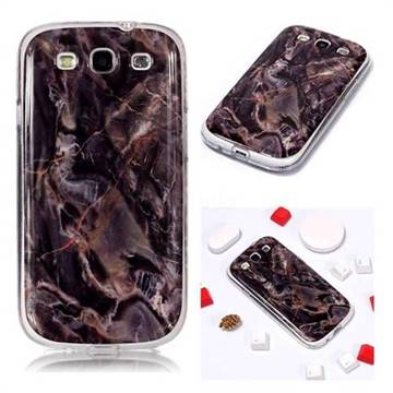 Brown Soft TPU Marble Pattern Phone Case for Samsung Galaxy S3