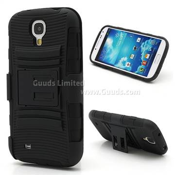 Swivel Belt Clip Silicone and Plastic Hybrid Case for Samsung Galaxy S4 i9500 i9502 i9505 with