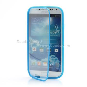 the latest 35aca 4f561 TPU Flip Cover with Transparent PC Screen Cover for Samsung Galaxy S4 i9500  i9502 i9505 - Blue