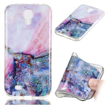 Purple Amber Soft TPU Marble Pattern Phone Case for Samsung Galaxy S4