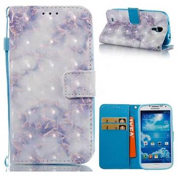 Green Gray Marble 3D Painted Leather Wallet Case for Samsung Galaxy S4