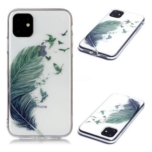 Bird Feathers Super Clear Soft TPU Back Cover for iPhone 11 (6.1 inch)