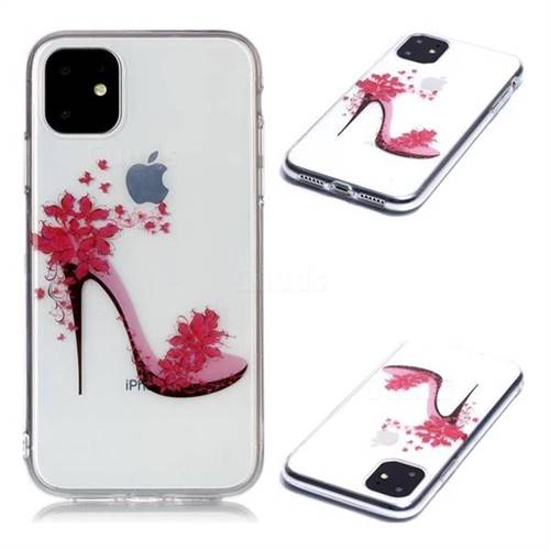 Flower High Heels Super Clear Soft TPU Back Cover for iPhone 11 (6.1 inch)