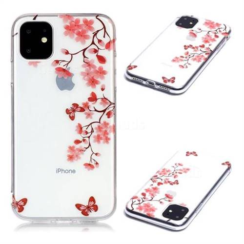 Plum Blossom Super Clear Soft TPU Back Cover for iPhone 11 (6.1 inch)