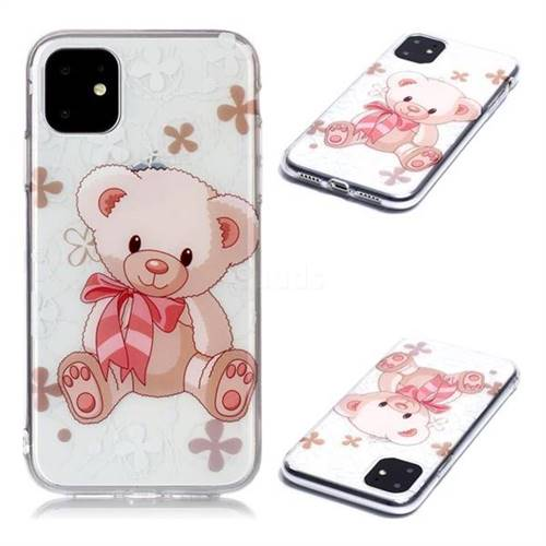 Cute Little Bear Super Clear Soft TPU Back Cover for iPhone 11 (6.1 inch)