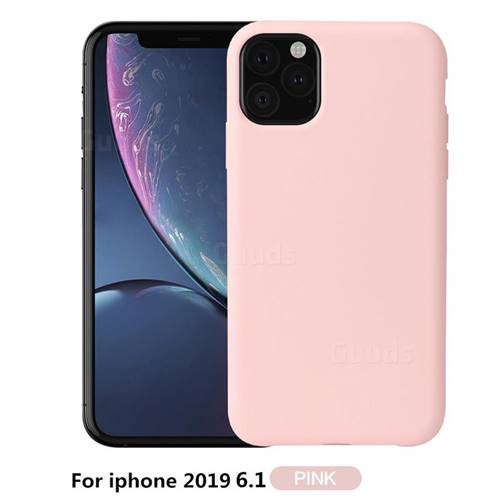 Howmak Slim Liquid Silicone Rubber Shockproof Phone Case Cover for iPhone 11 (6.1 inch) - Pink
