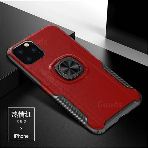 Knight Armor Anti Drop PC + Silicone Invisible Ring Holder Phone Cover for iPhone 11 (6.1 inch) - Red