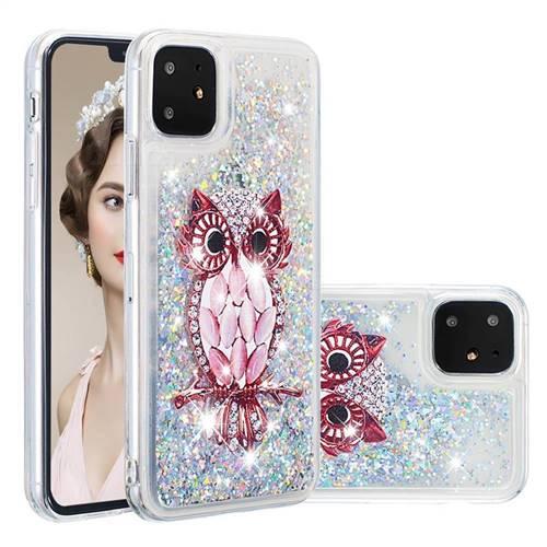 Seashell Owl Dynamic Liquid Glitter Quicksand Soft TPU Case for iPhone 11 (6.1 inch)