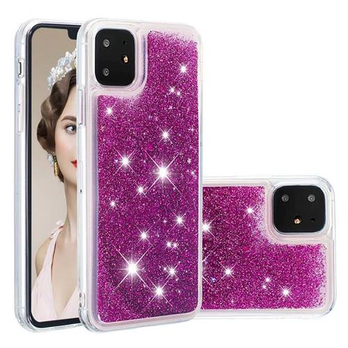 Dynamic Liquid Glitter Quicksand Sequins TPU Phone Case for iPhone 11 (6.1 inch) - Purple