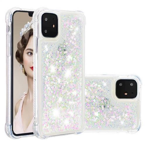 Dynamic Liquid Glitter Sand Quicksand Star TPU Case for iPhone 11 (6.1 inch) - Pink