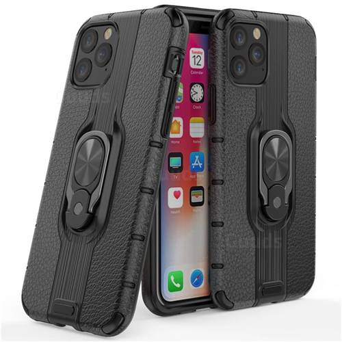 Alita Battle Angel Armor Metal Ring Grip Shockproof Dual Layer Rugged Hard Cover for iPhone 11 (6.1 inch) - Black