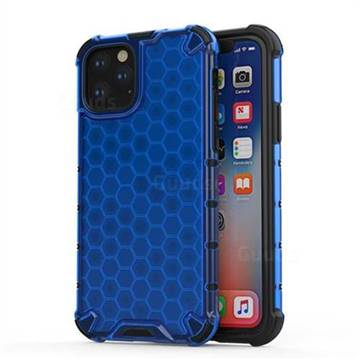 Honeycomb TPU + PC Hybrid Armor Shockproof Case Cover for iPhone 11 (6.1 inch) - Blue