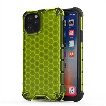 Honeycomb TPU + PC Hybrid Armor Shockproof Case Cover for iPhone 11 (6.1 inch) - Green