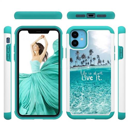 Sea and Tree Shock Absorbing Hybrid Defender Rugged Phone Case Cover for iPhone 11 (6.1 inch)