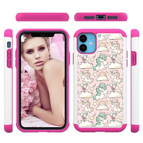 Pink Pony Shock Absorbing Hybrid Defender Rugged Phone Case Cover for iPhone 11 (6.1 inch)