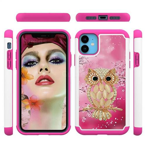 Seashell Cat Shock Absorbing Hybrid Defender Rugged Phone Case Cover for iPhone 11 (6.1 inch)