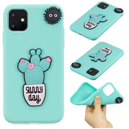 Cactus Flower Soft 3D Silicone Case for iPhone 11 (6.1 inch)