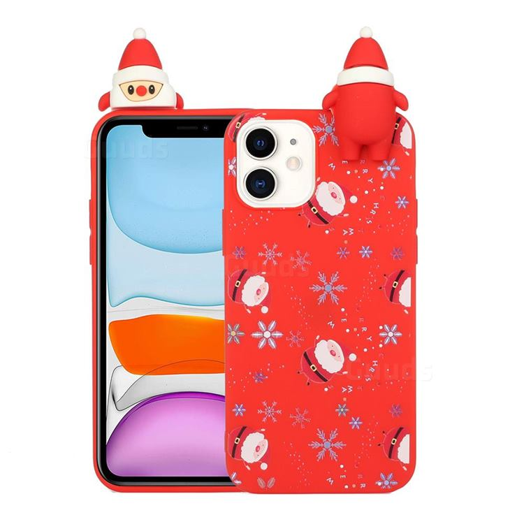 Snowflakes Gloves Christmas Xmax Soft 3D Doll Silicone Case for iPhone 11 (6.1 inch)