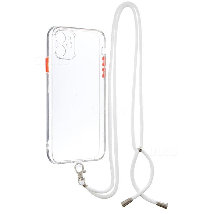 Necklace Cross-body Lanyard Strap Cord Phone Case Cover for iPhone 11 (6.1 inch) - Transparent