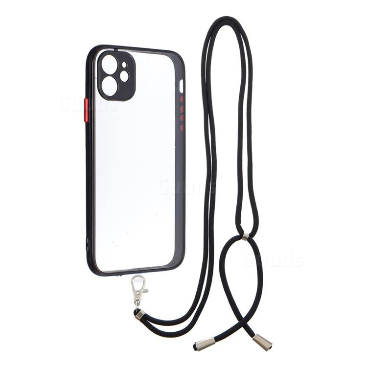 Necklace Cross-body Lanyard Strap Cord Phone Case Cover for iPhone 11 (6.1 inch) - Black