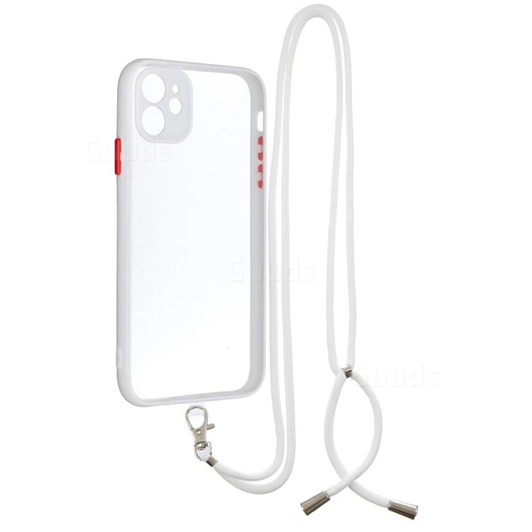 Necklace Cross-body Lanyard Strap Cord Phone Case Cover for iPhone 11 (6.1 inch) - White