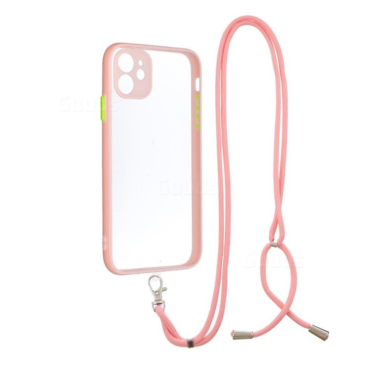 Necklace Cross-body Lanyard Strap Cord Phone Case Cover for iPhone 11 (6.1 inch) - Pink