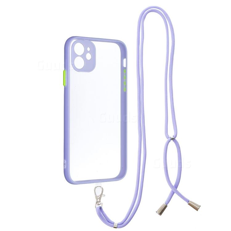 Necklace Cross-body Lanyard Strap Cord Phone Case Cover for iPhone 11 (6.1 inch) - Purple