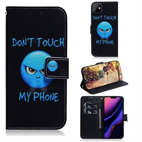 Not Touch My Phone PU Leather Wallet Case for iPhone 11 (6.1 inch)