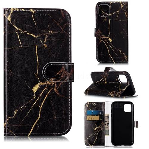 Black Gold Marble PU Leather Wallet Case for iPhone 11 (6.1 inch)