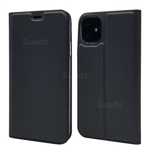 Ultra Slim Card Magnetic Automatic Suction Leather Wallet Case for iPhone 11 (6.1 inch) - Star Grey